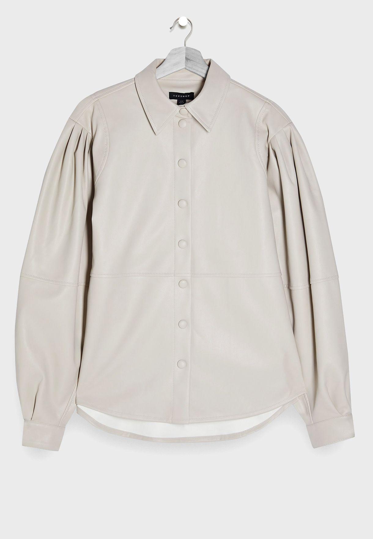 قميص جلد بدرزات