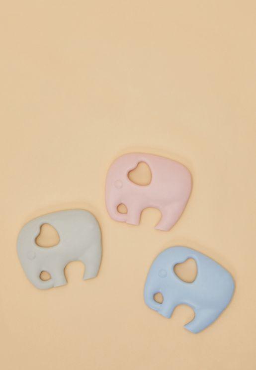 3-Pack Elephant Teethers