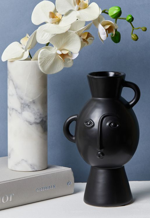 Face Vase With Handle