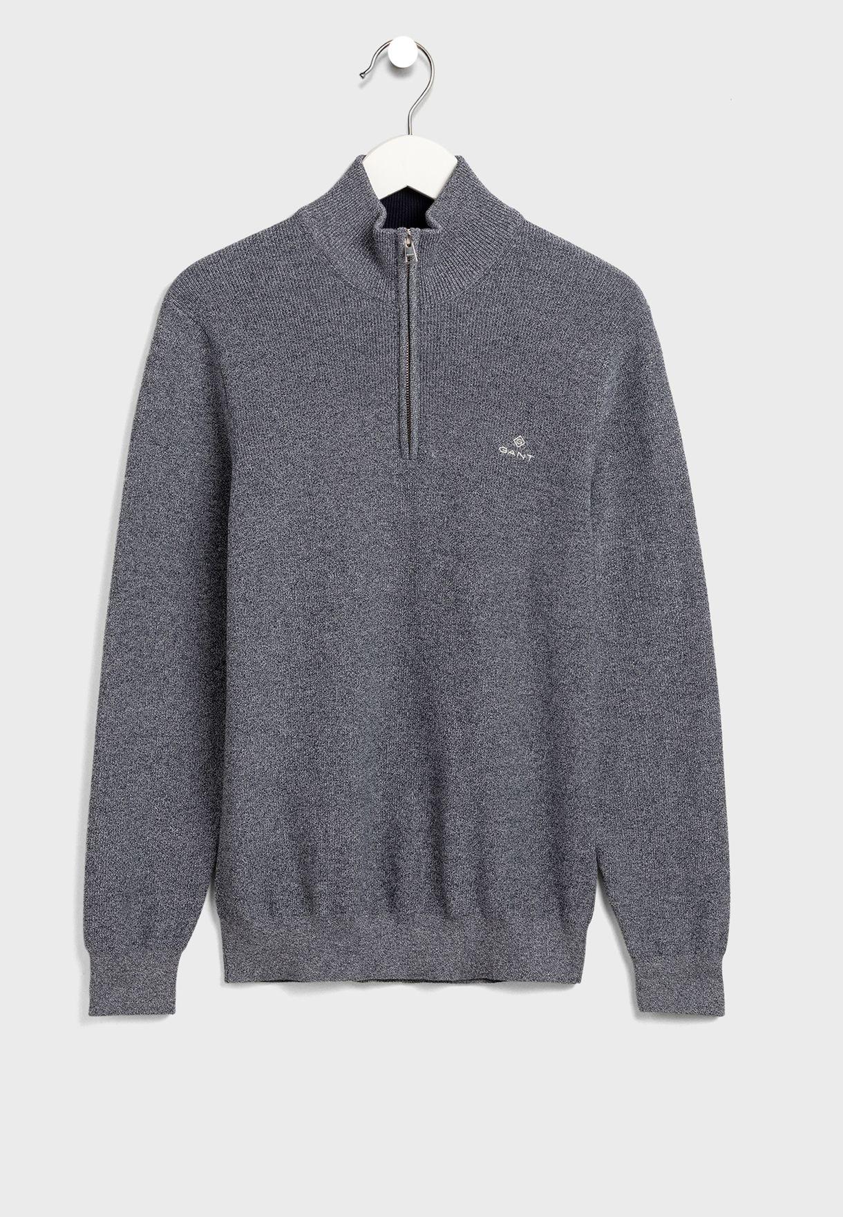 Half Zip Knitted Sweater