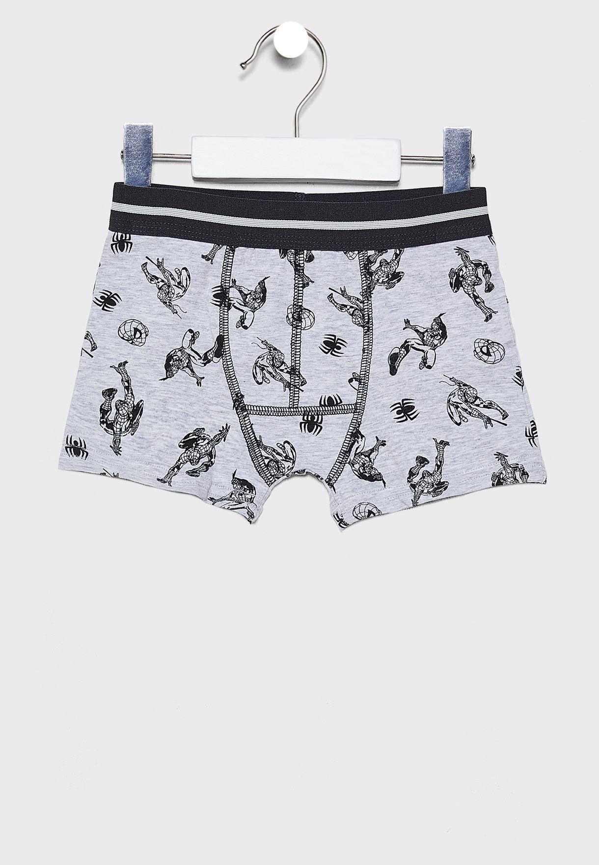 Kids 2 Pack Printed Boxer Shorts