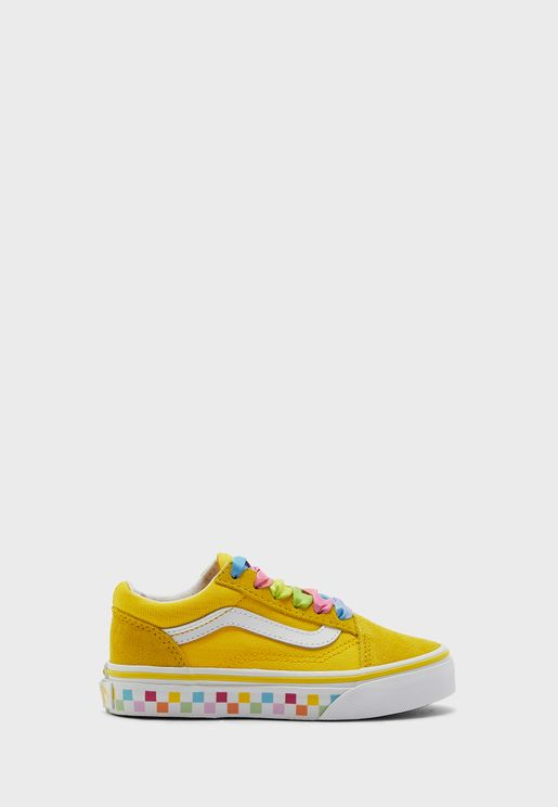 Kids Rainbow Lace Old Skool