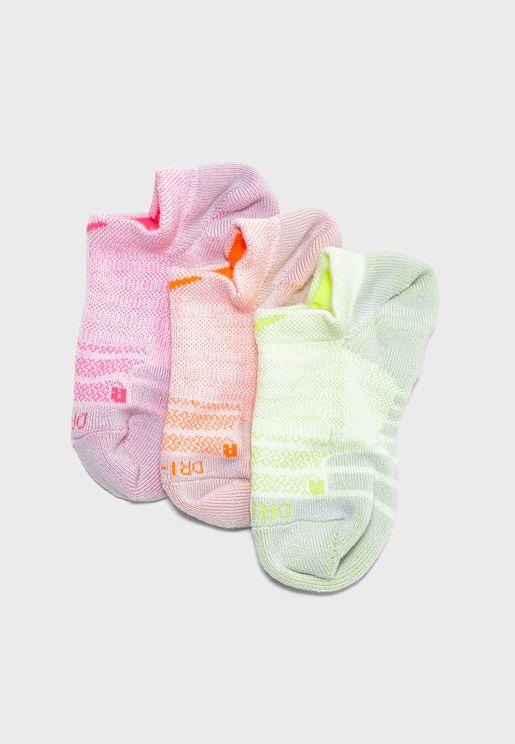 مجموعة من 3 ازواج جوارب مخفية تحت الحذاء