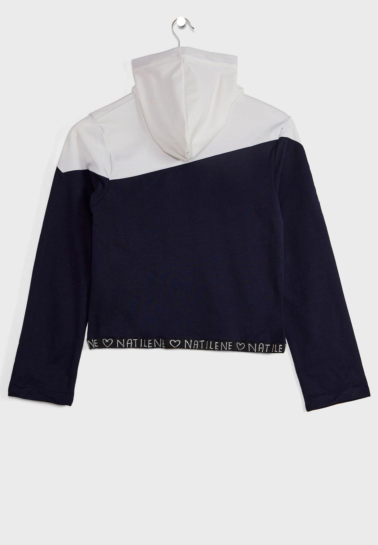 Natilene Urblocked Hooded Sweatshirt