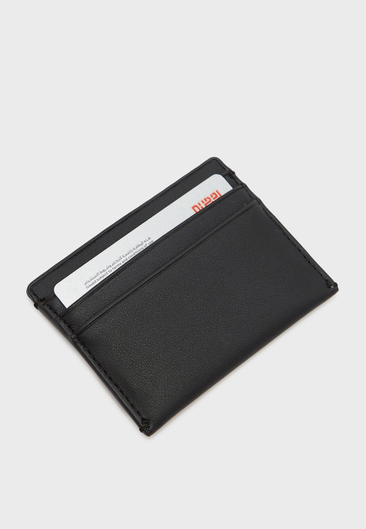 حافظة بطاقات بشعار الماركة