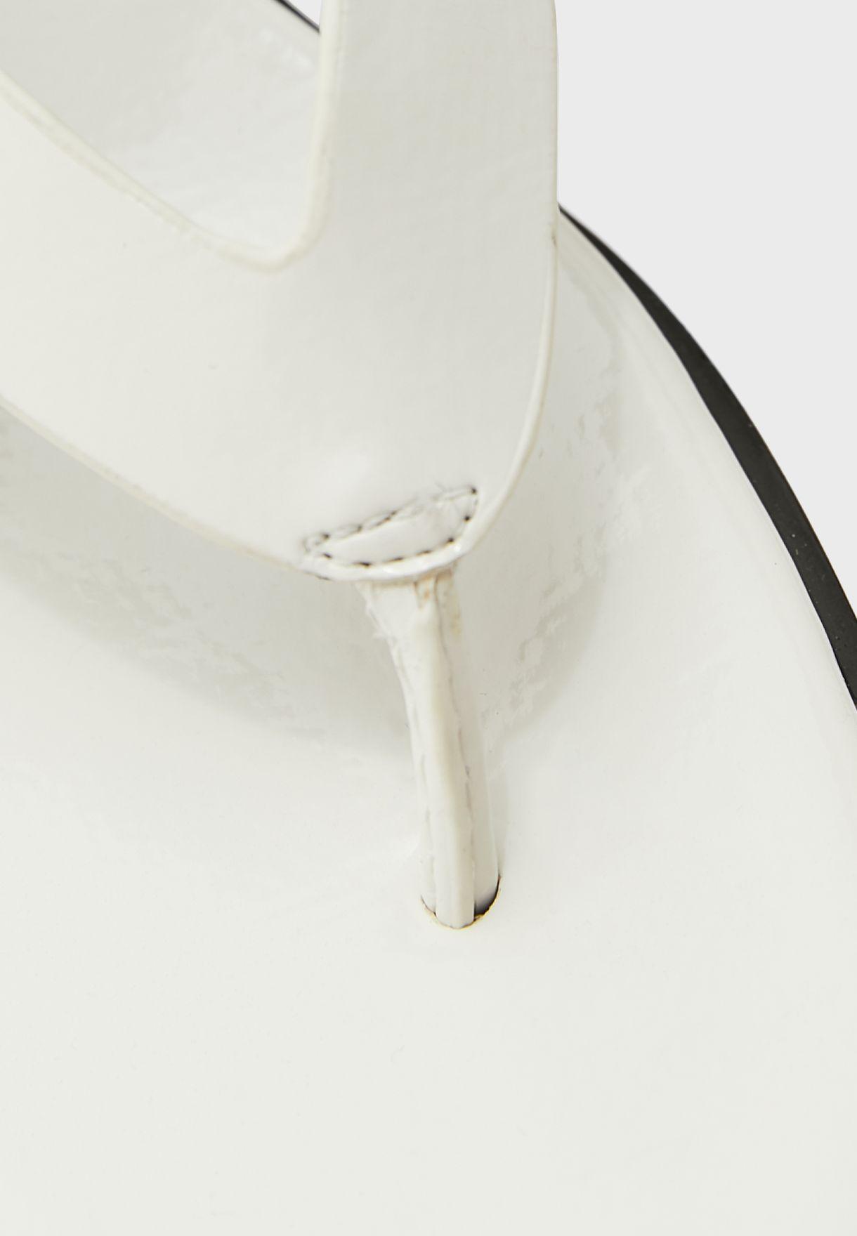 Toepost Mule Sandal With Persplex Bulb Heel