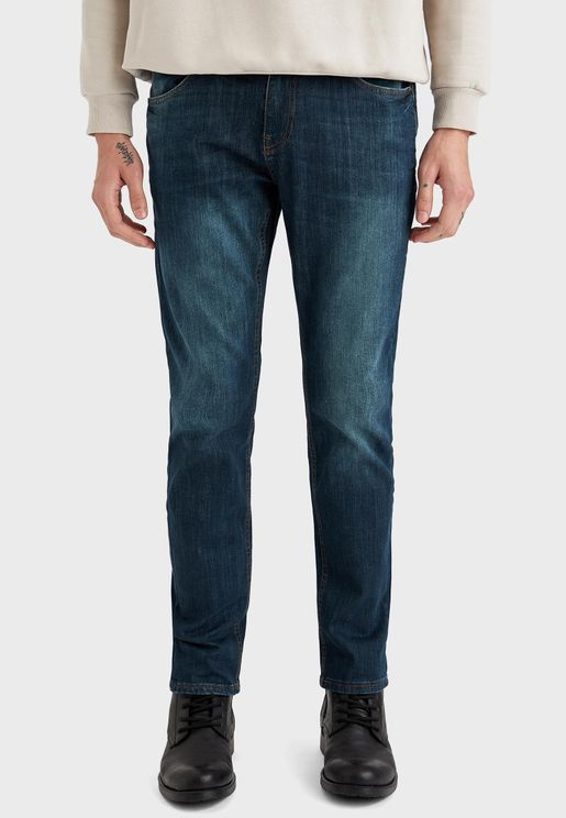 Dark Wash Straight Jeans
