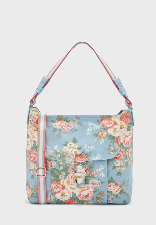 Candy Flowers Printed Buckle Crossbody