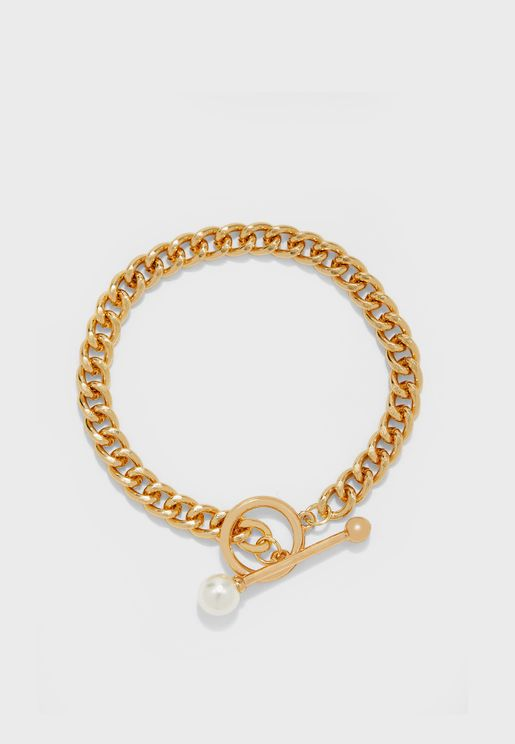 Chain Bracelet With Pearl