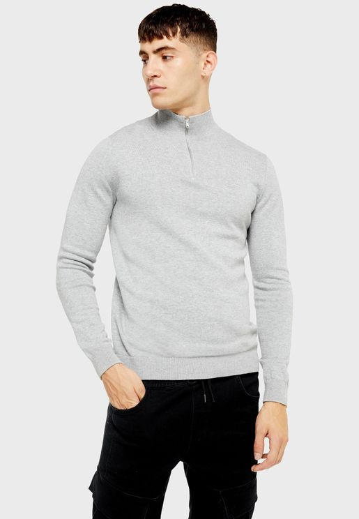 Turtle Neck Knitted Sweater