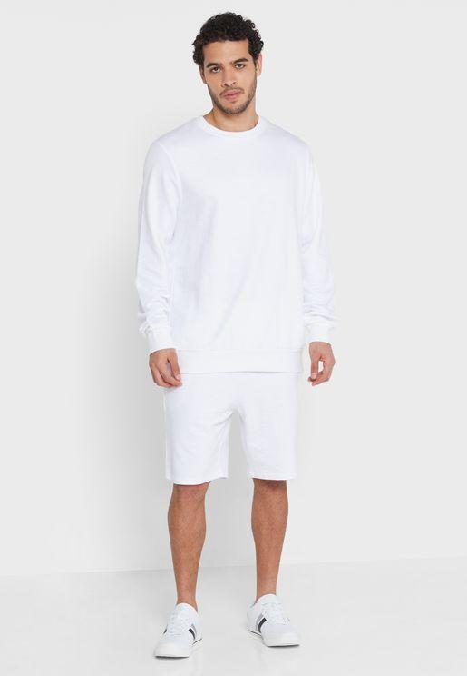 Sweater Shorts Set