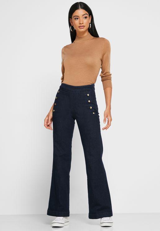 Bootcut High Waist Jeans