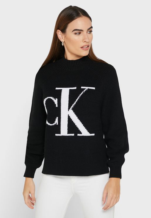 Logo Round Neck Sweater