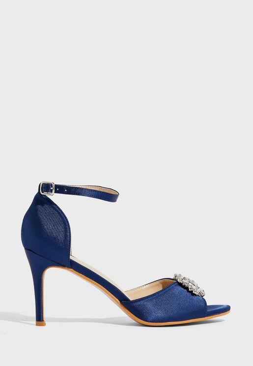 Diamante Trim 2 Part Sandals