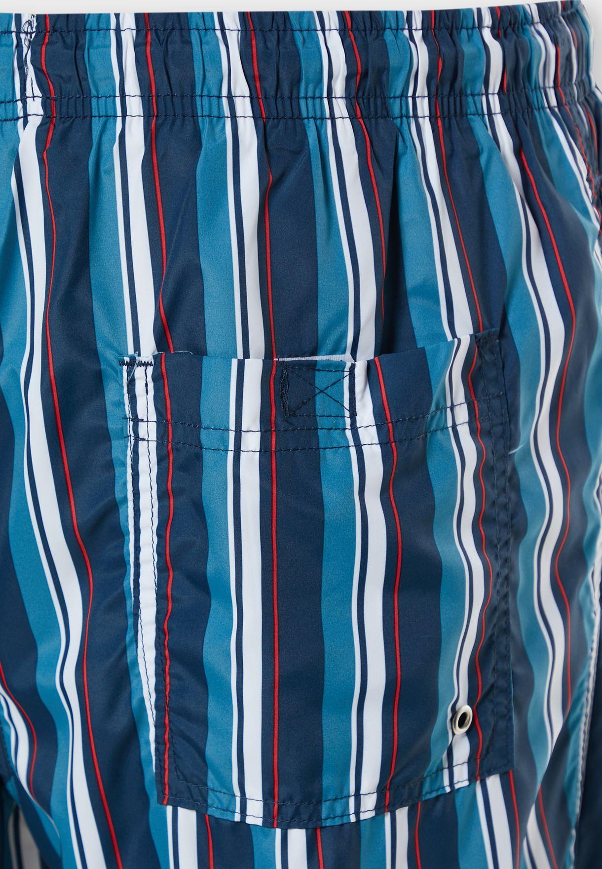Stripe Swim Short
