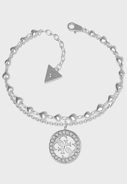 Hearts Chain Bracelet