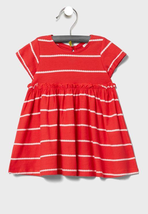 فستان بخطوط للبيبي