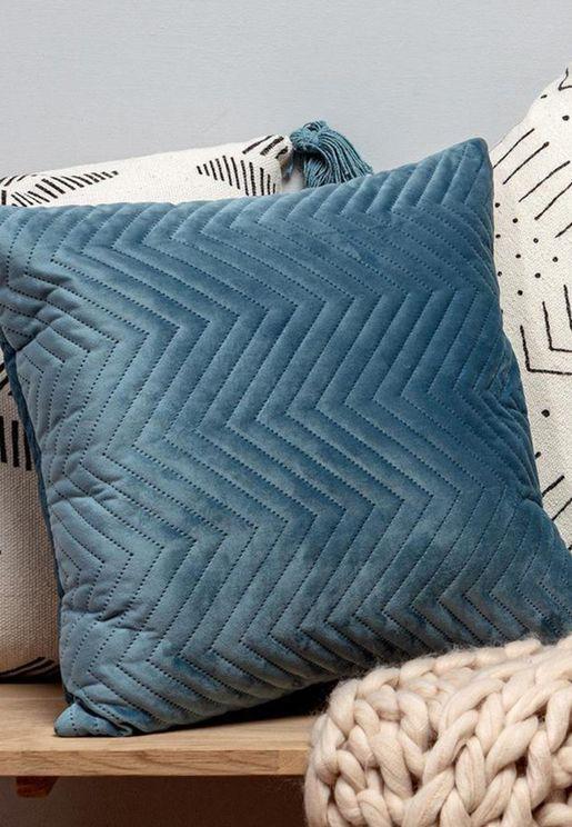 Chevron Velvet Cushion