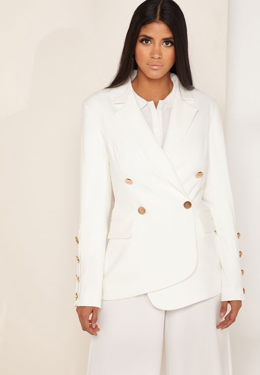 Just Mine Button Detail Blazer