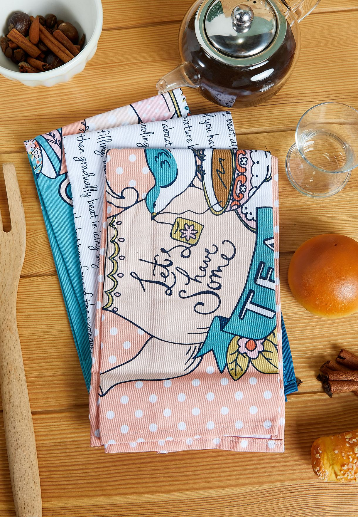 Pretty Things Set of 3 Kitchen Tea Towels