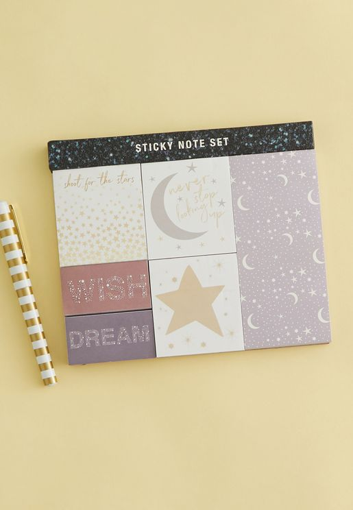 Shoot For Star Sticky Note Set