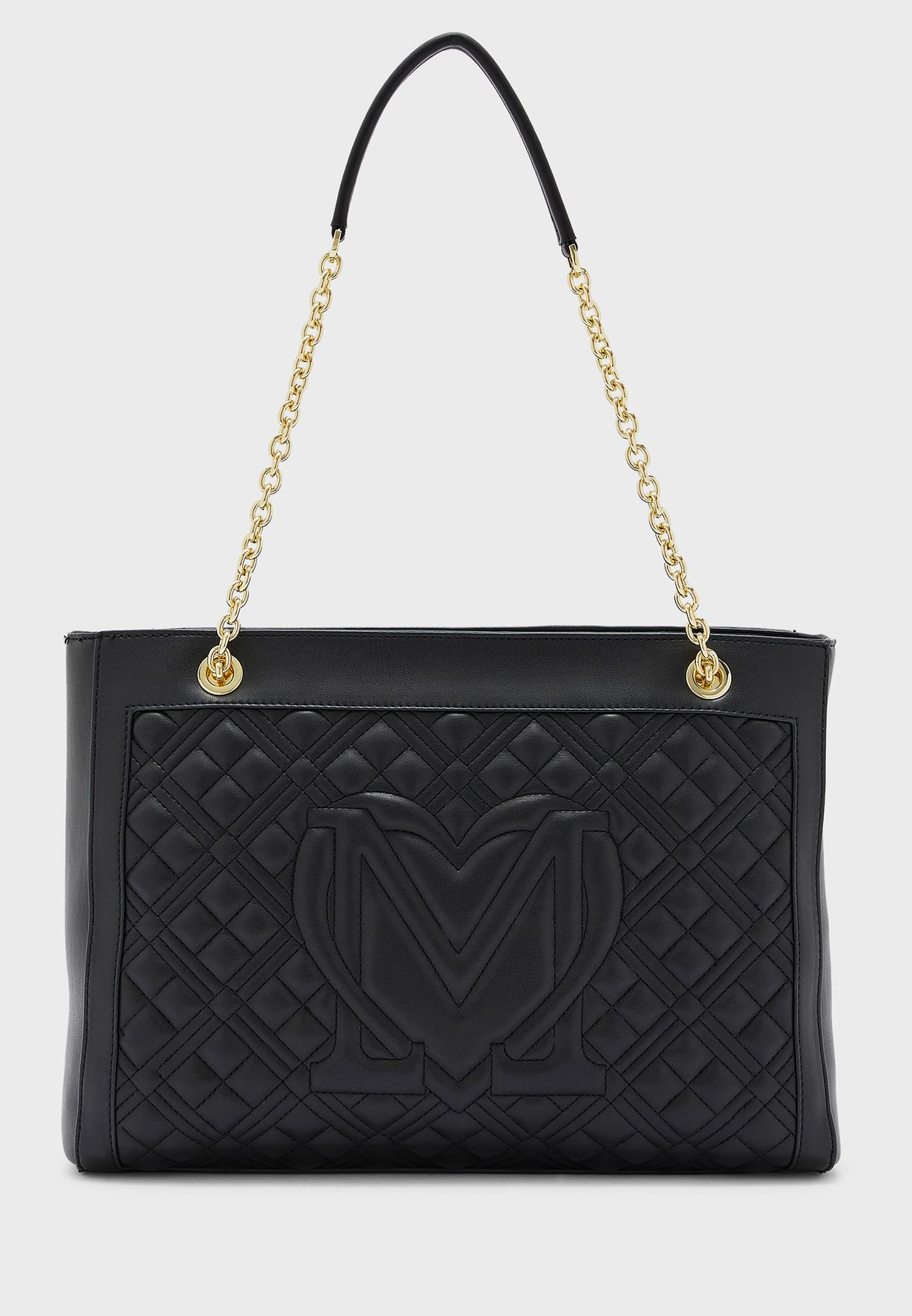 Quilted Zip Closure Shopper