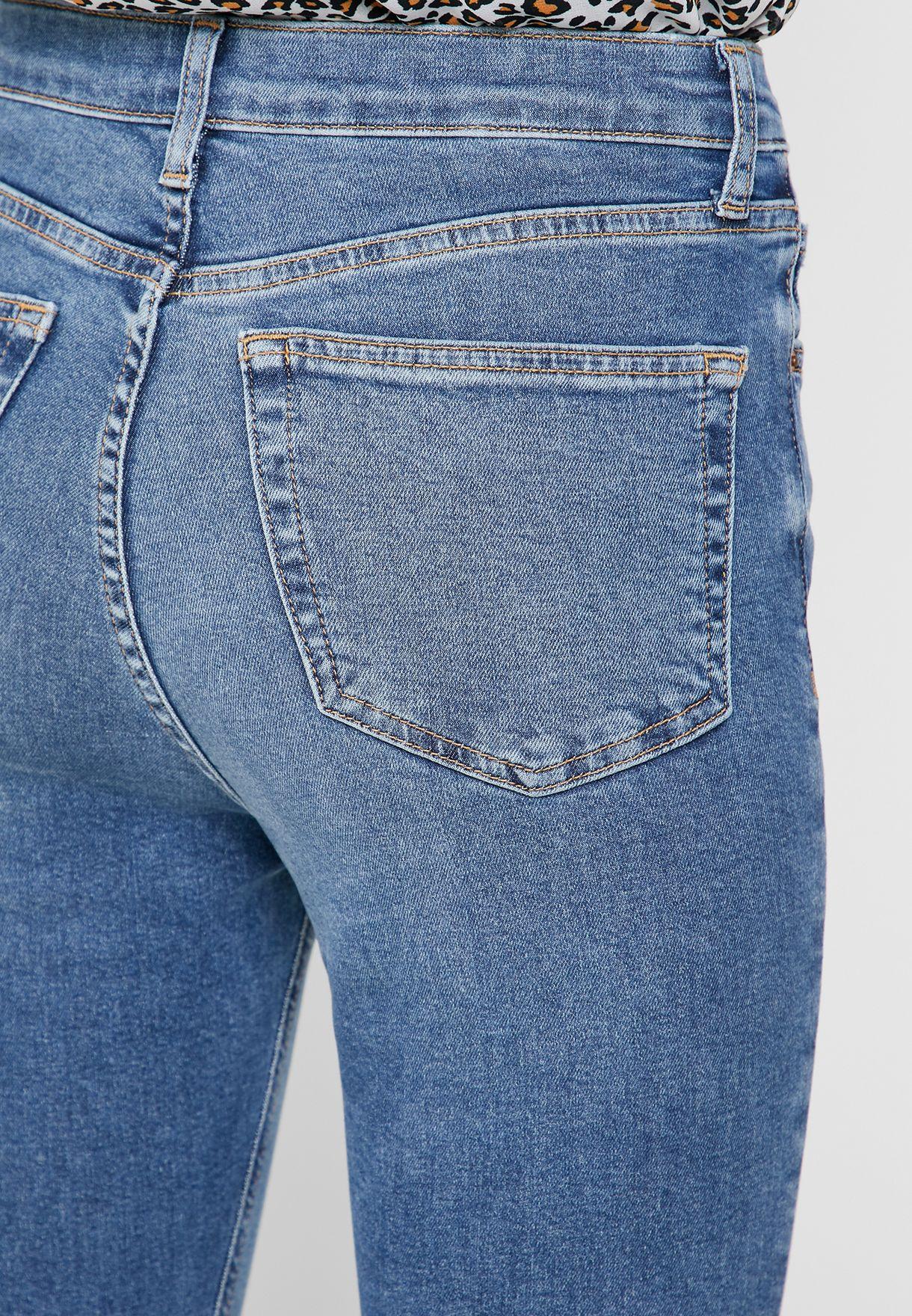 Moto Jamie High Rise Skinny Ankle Grazer Jeans