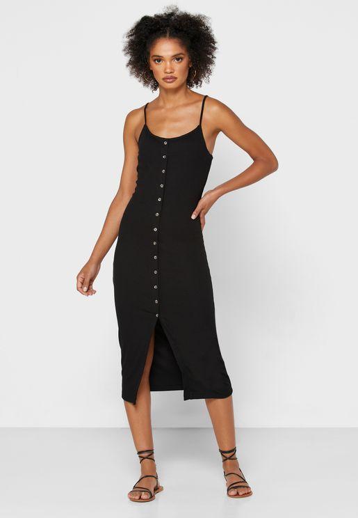 Button Down Bodycon Dress