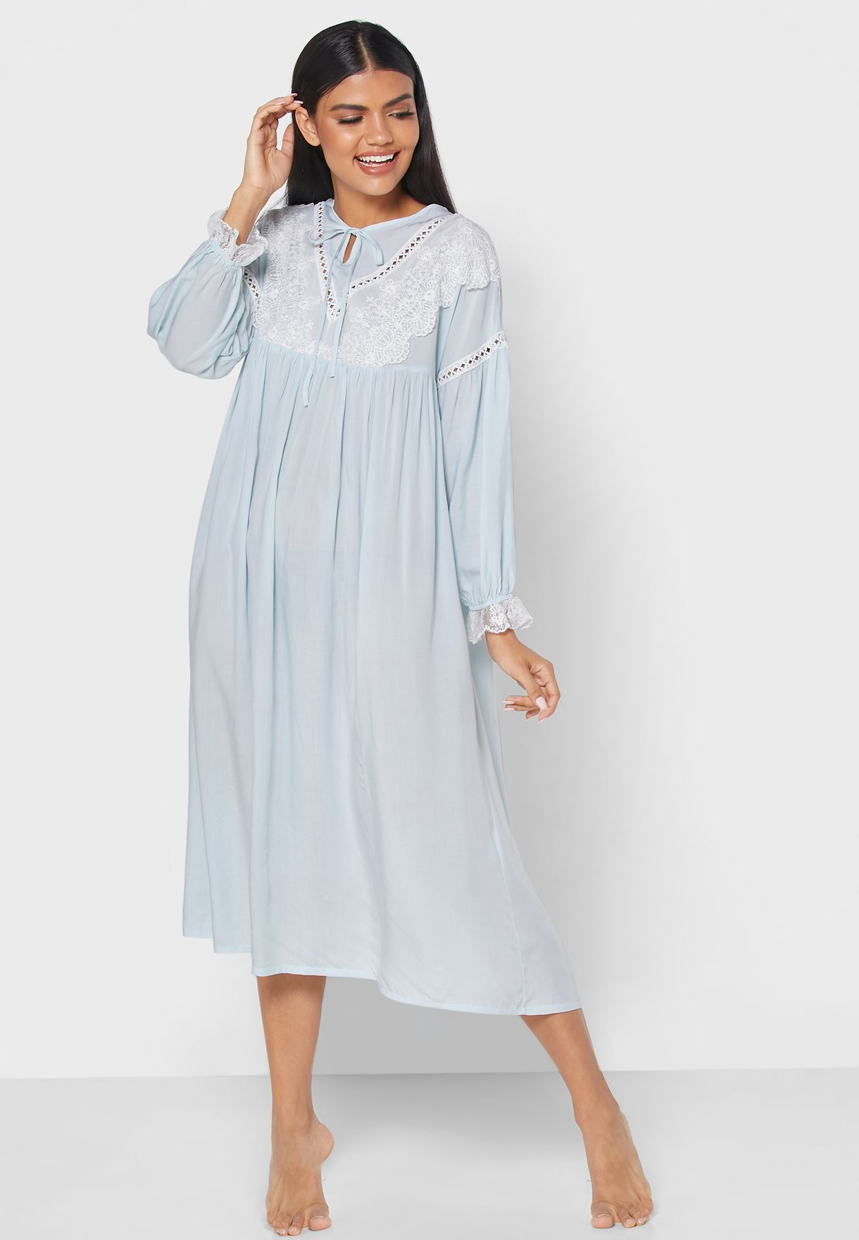 Lace Insert Nightdress