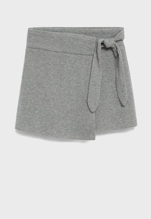 Kids Knot Detail Skirt