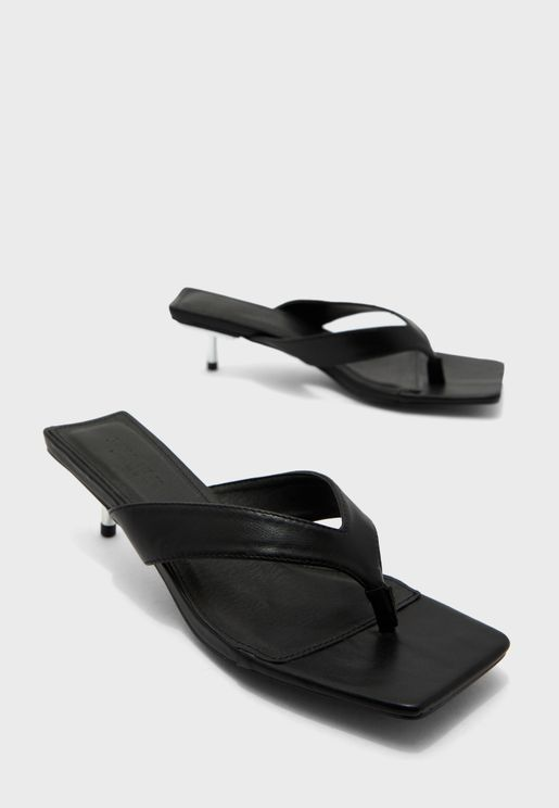 Square Toe Thong Sandals