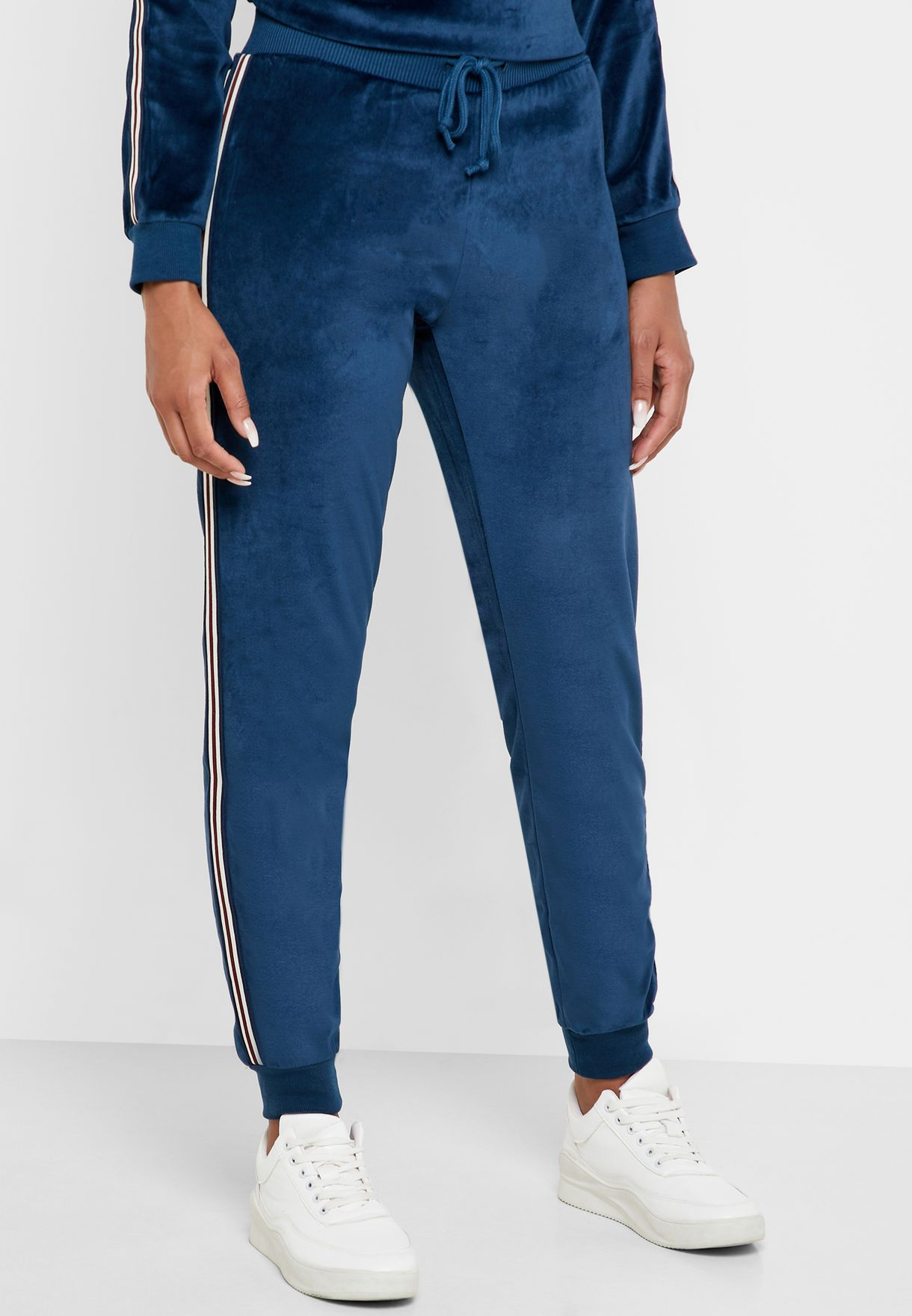 Contrast Side Paneled Jogger Pants Set