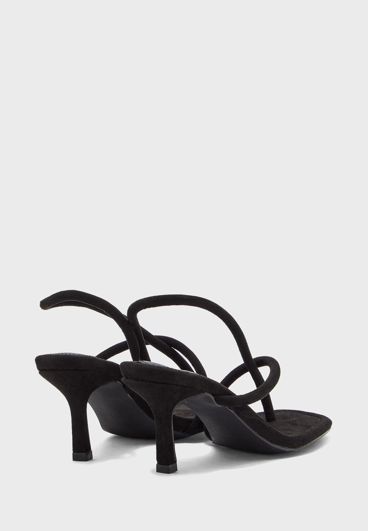 Multi Strap Low Heel Sandals