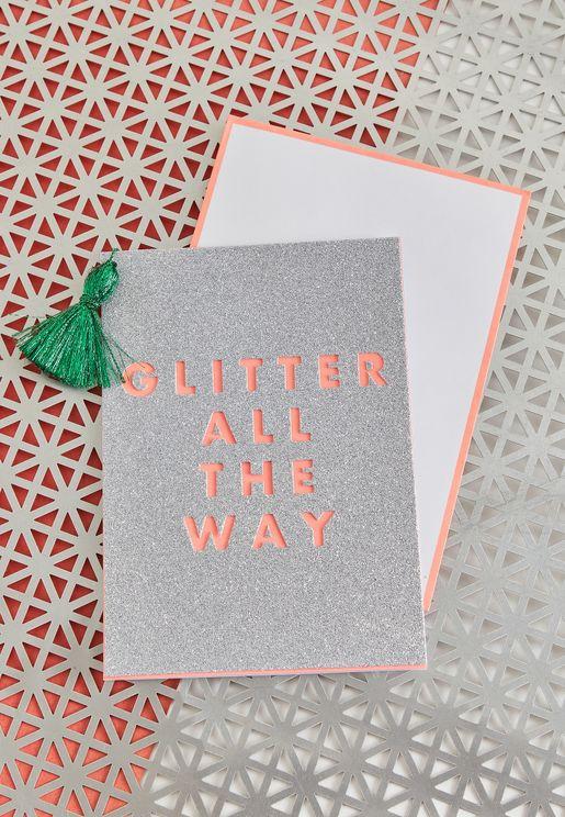 Christmas Glitter Tassel Card