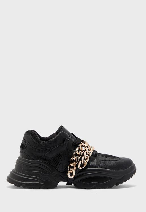 Chain Split Low Top Sneaker