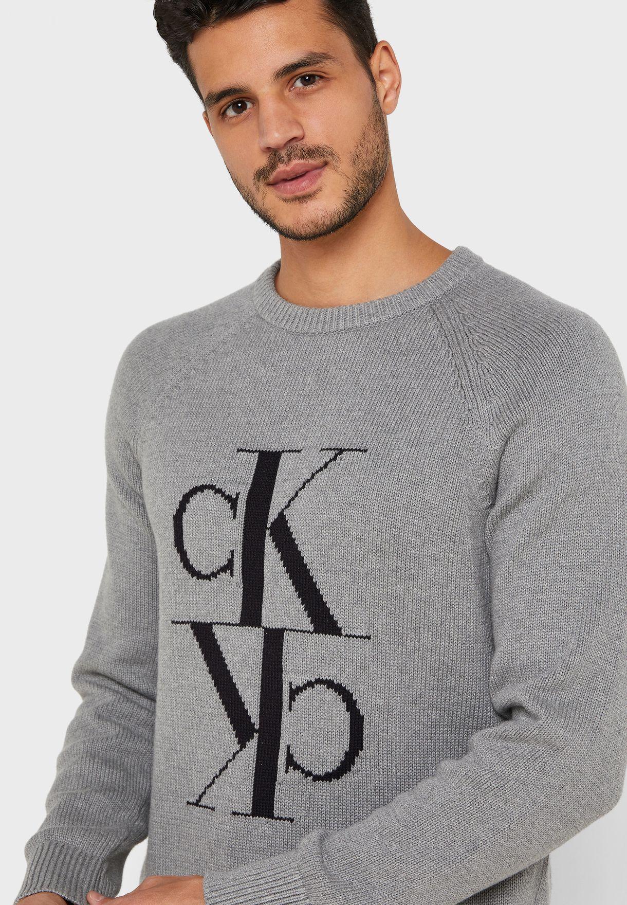 Mirrored Logo Sweater