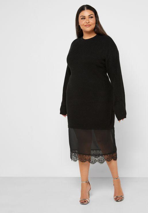 Tassel Detail Sweat Dress