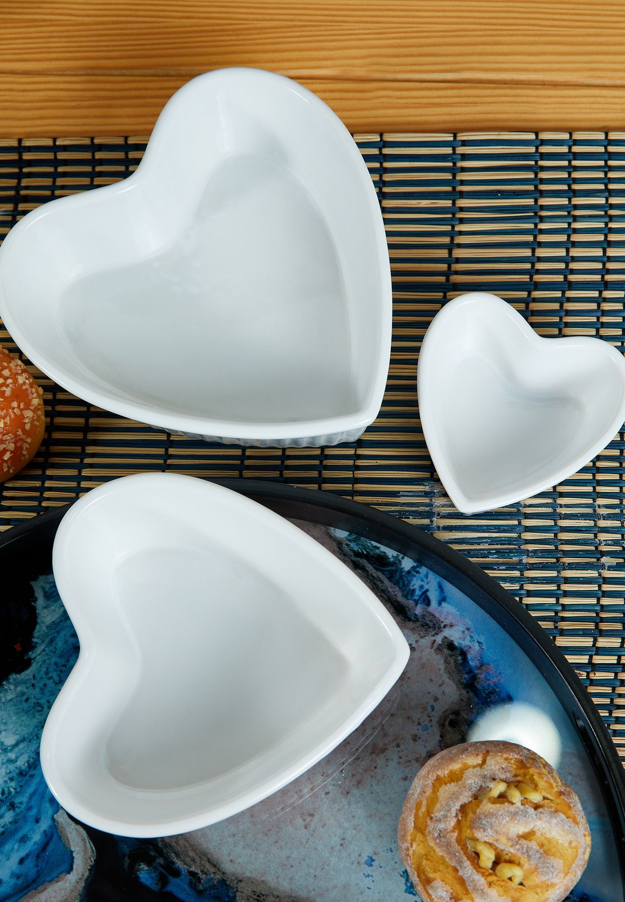 Amour Set Of 3 Heart Shape Dishes