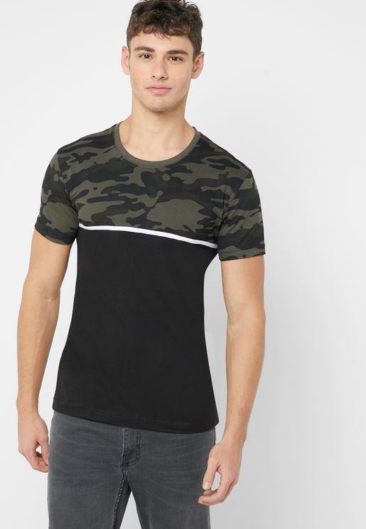 Camo Block T Shirt