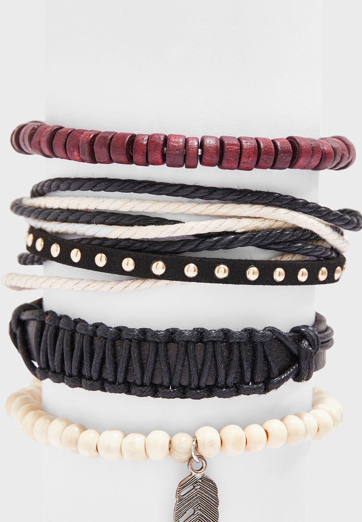 4 Pack Bracelets Set