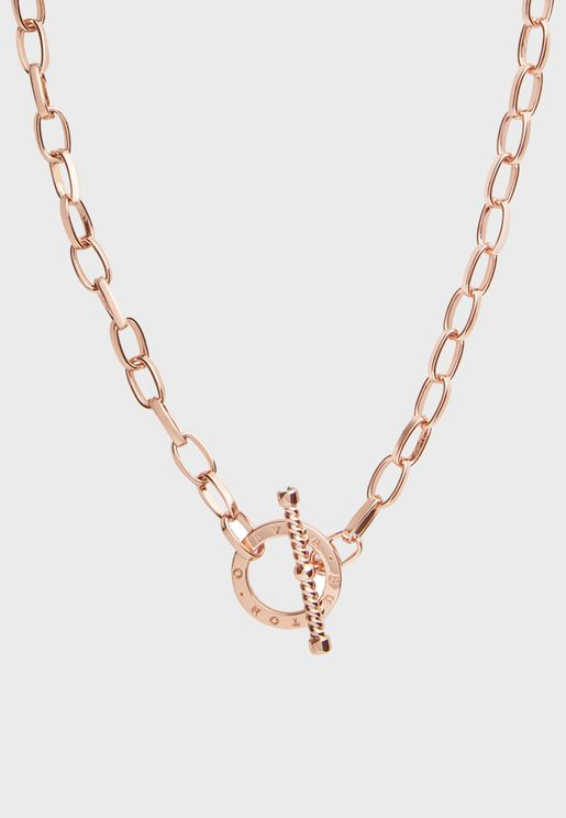 Bejewelled T-Bar Necklace