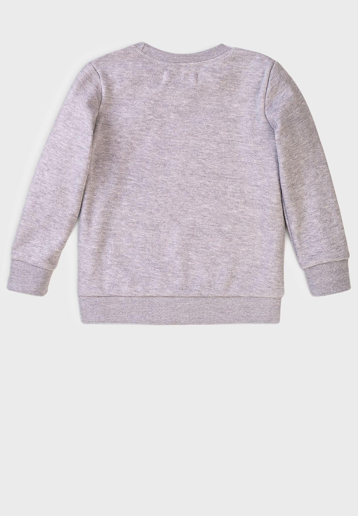 Kids Basic Fleece Crew Sweatshirt