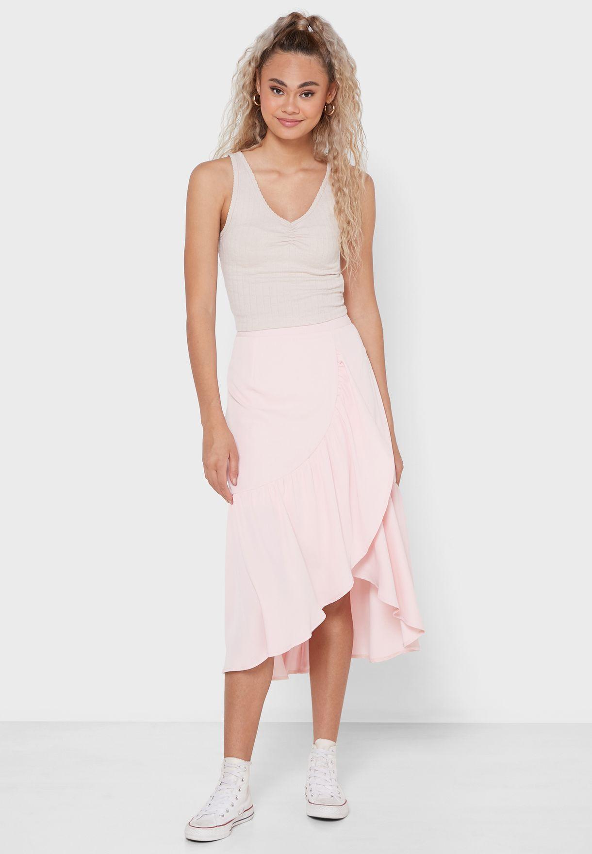 Ruffle Hem Skirt