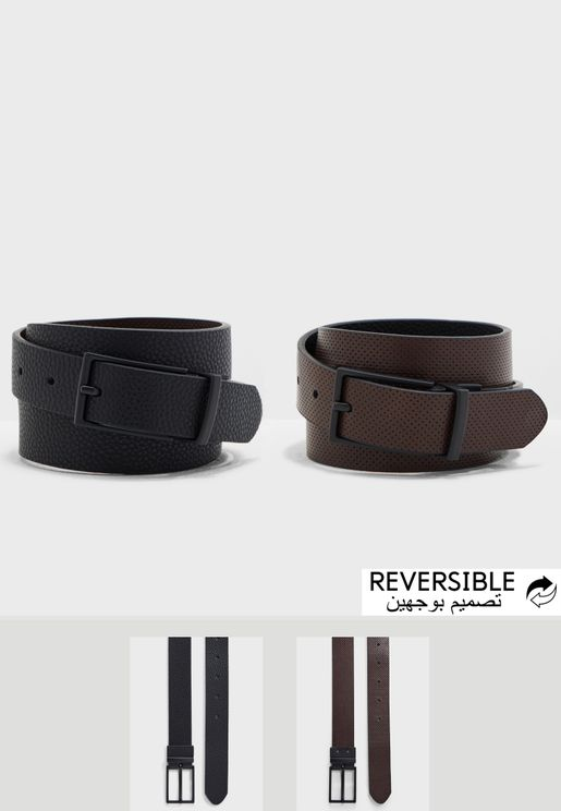 8e62cd32a5b Perforated Pebble Reversible Belt