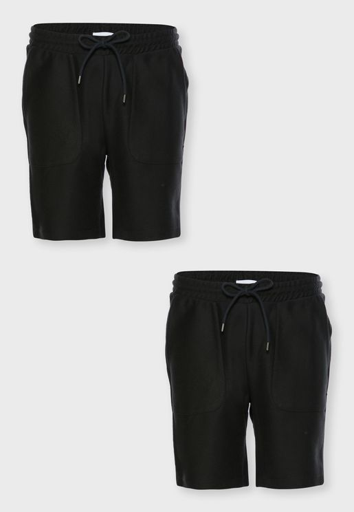 2 Pack Drawstring Shorts