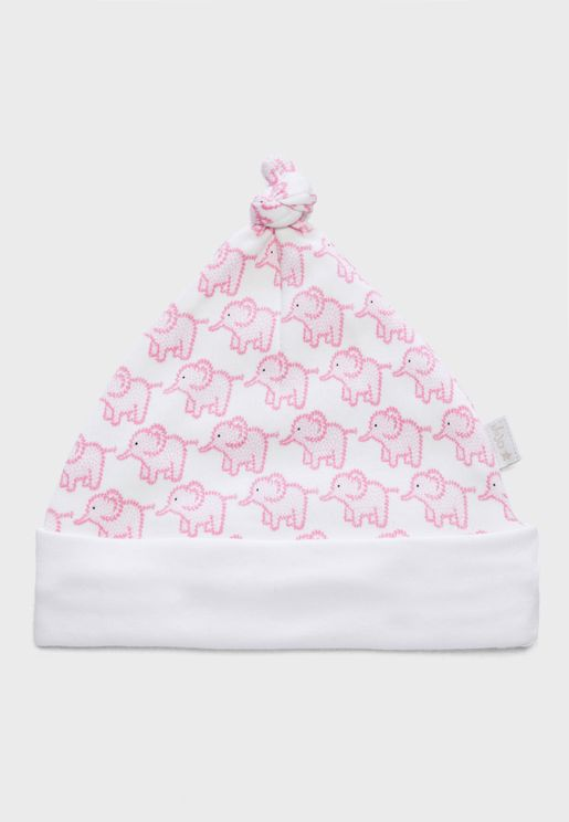 Infant Elephant Print Hat