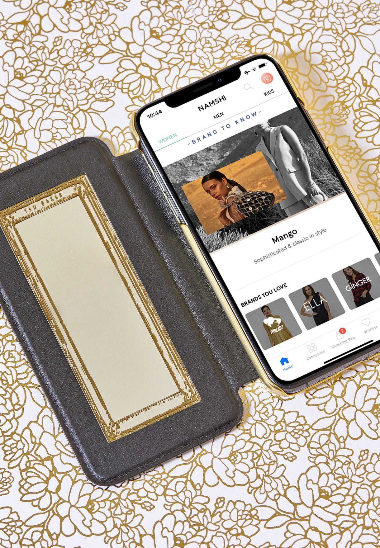 Iphone X Mirror Folio Case Helen - Impre