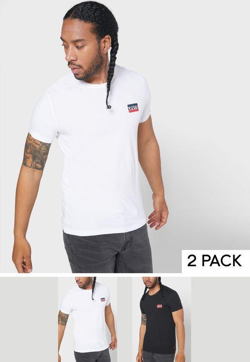 2 Pack Essential Crew Neck T-Shirt