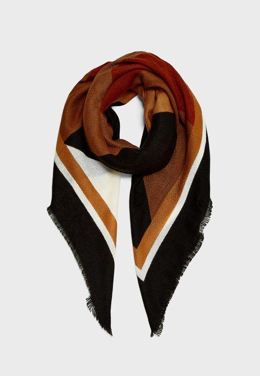 Oranje Graphic Weaved Scarve