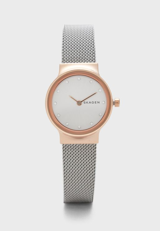 Freja Steel Mesh Strap Watch